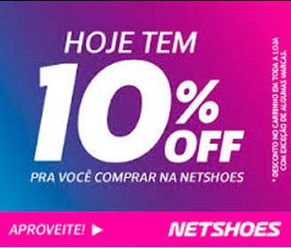 Hoje tem 100% OFF - Netshoes